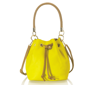 Sac seau David Jones jaune